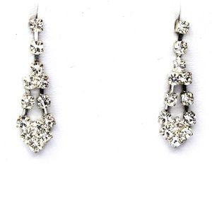 Roman Vintage Jewelry Icy Rhinestone Earrings New